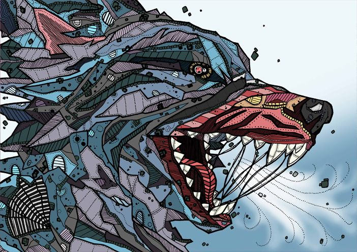 Wolf Illustration by Kelly Blake