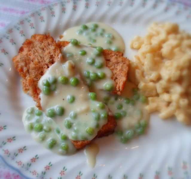 Peas Patties Creamed Salmon