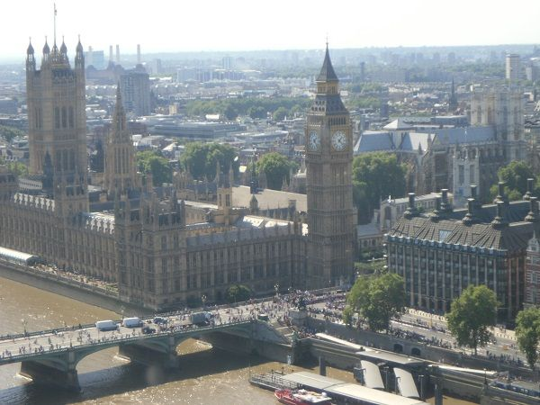Houses of Parliament and Big Ben from London Eye #Londra #London #BigBen
