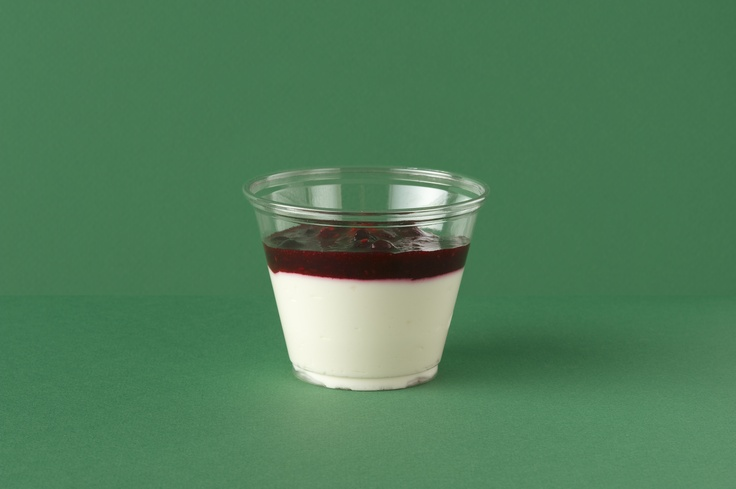 Verrine fromage blanc et coulis fruits rouges