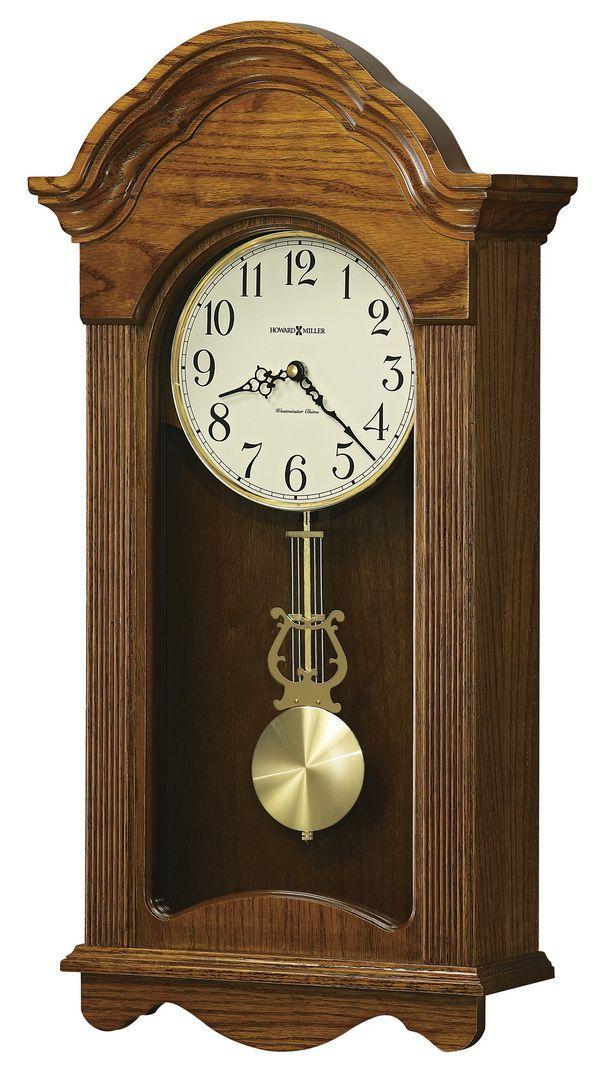 Clockway Howard Miller Deluxe Quartz Chiming Wall Clock Chm2142 Chiming Wall Clocks Wood Wall Clock Wall Clock