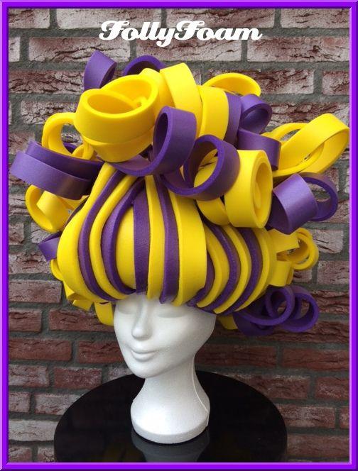 Foampruik / foamwig / pruik / wig made of foam from FollyFoam! Great for carnaval, fasching, cosplay, theater, dragqueen, etc.