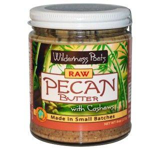 Wilderness Poets, Raw Pecan Butter with Cashews - Вкусное масло из орехов кешью и пекан