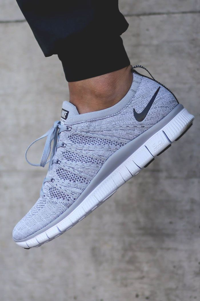Flyknit grey Nike shoes