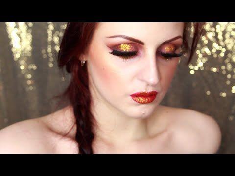 Trucco Marrone e oro per occhi castani | Bambola Malefica
