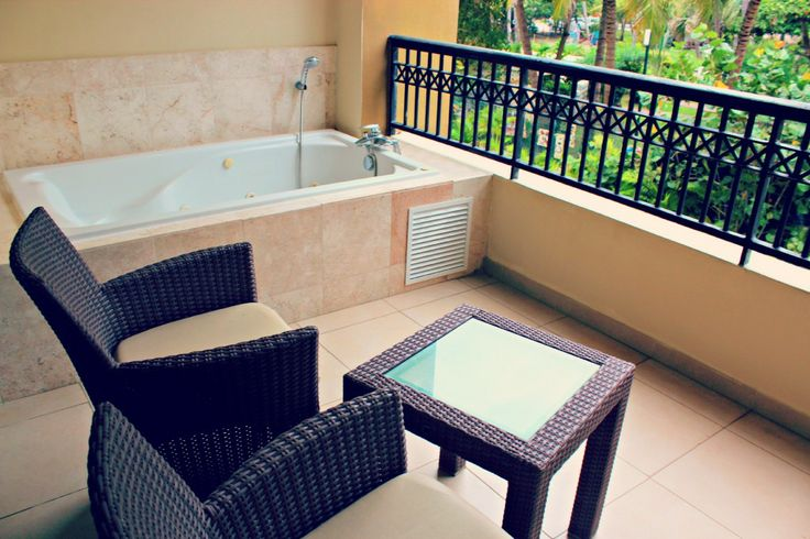 Preferred Club rooms at Now Larimar feature a jacuzzi tub right on the balcony!