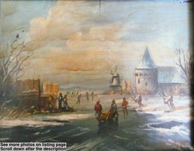 Original Oil Painting By Dutch Artist A.W. Selhorst Ice ...