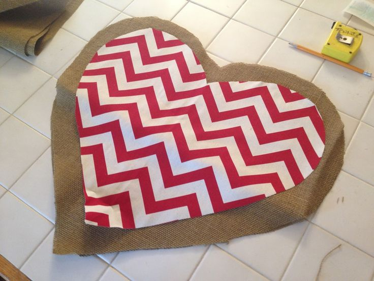 how to make a burlap football door hanger | Door Hanger by adhering fabric to the front piece of your burlap door ...