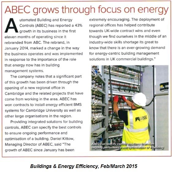 ABEC grows through focus on energy, B&EE journal