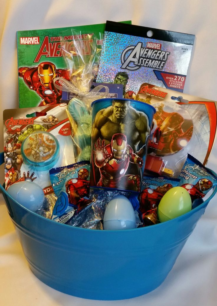 25 best easter gift baskets images on pinterest easter gift avengers themed easter basket chocolate covered pretzels chocolate bunny by bhuffmancreations on etsy negle Image collections