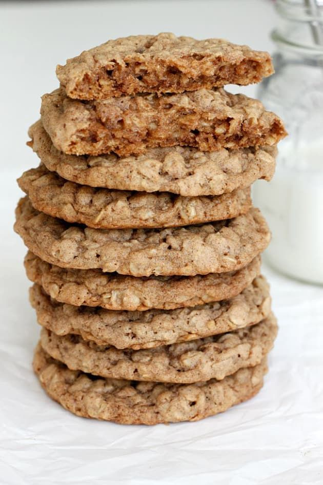 Pumpkin Spice Oatmeal Cookies are soft, chewy, and full of Fall goodness. You'll definitely make these again!