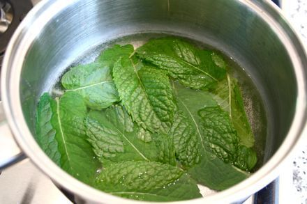 How to make mint tea using your mint leaves.