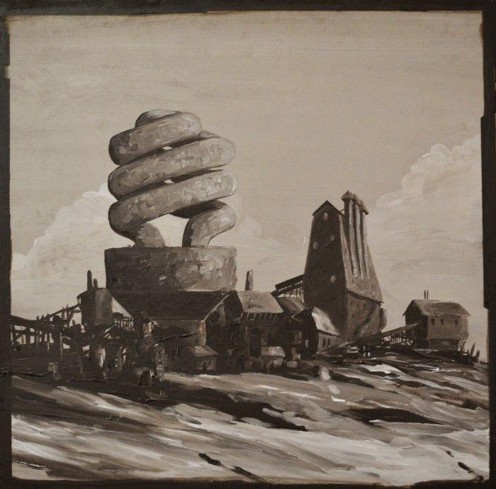 BETHLEHEM STEEL, acrylic on board by Ben Tankard, $180 available to buy at www.bluethumb.com.au/bentankard #surrealism #art #painting