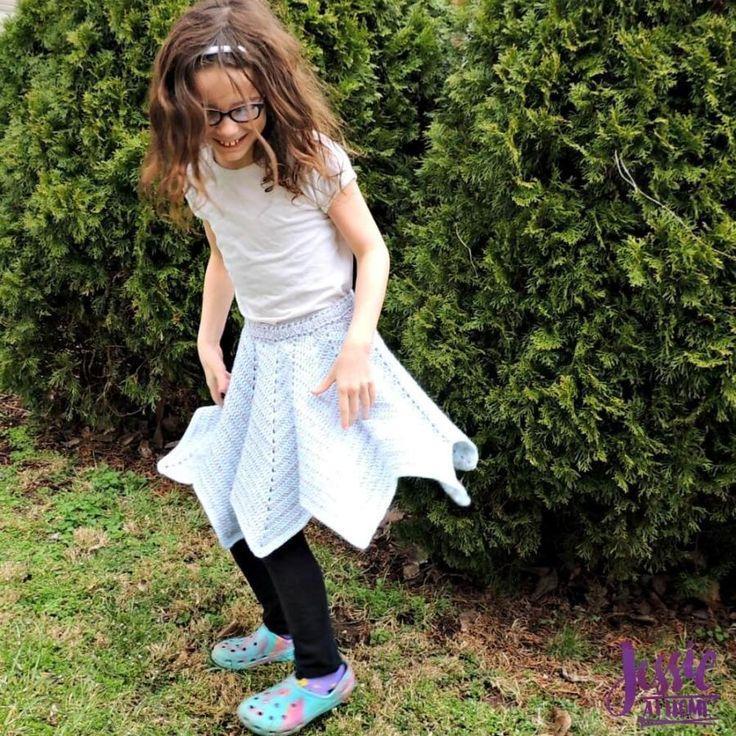 Rippled crochet skirt by JessieAtHome