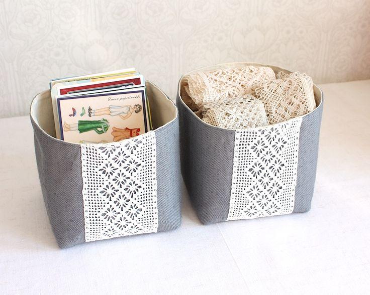 night garden storage bins, set of two small