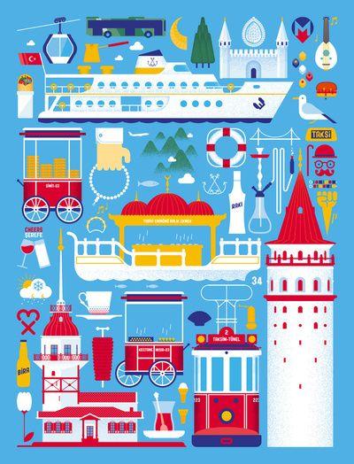 Istanbul by Tamer Koseli #illustration #graphic #design