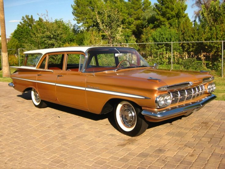 1959 Chevrolet Brookwood Station Wagon OMG I learned to drive in my parents' station wagon just like this one.