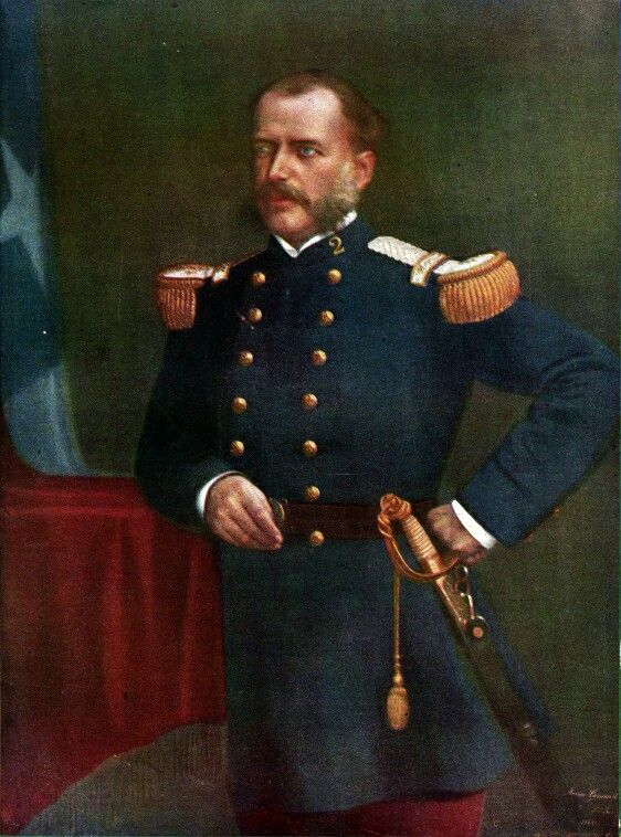 Coronel Eleuterio Ramirea Molina, Comandante del Regimiento 2° de Linea, muerto en Tarapaca un 27 de noviembre de 1879.
