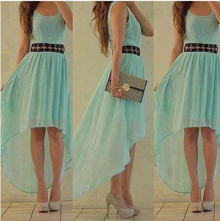vestido asimétrico.