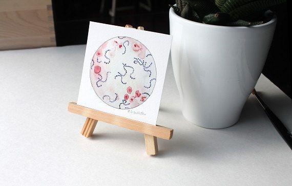 Streptokokken Mini Gemälde Mini print von sandraculliton auf Etsy