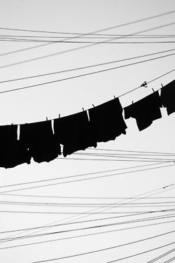 ANOUKBClotheslines, Clothing Line, Black Clothing, Black White Photography, White Fashion, Fashion Art, Design Art, Blackwhite, Laundry