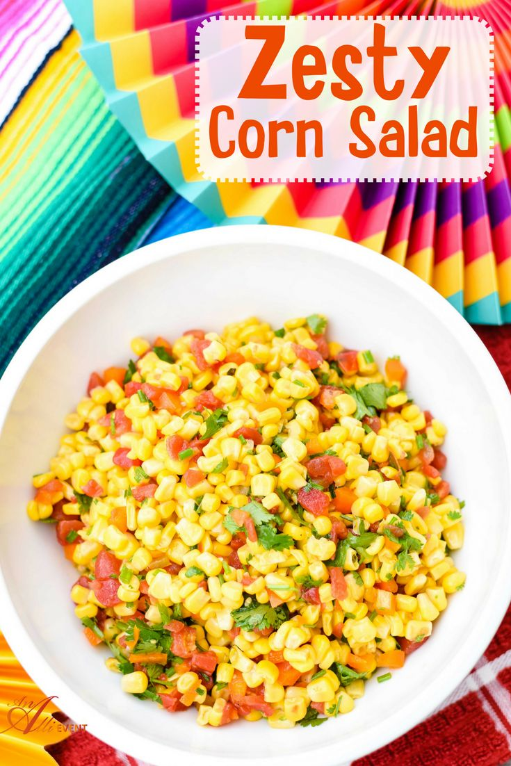 Easy Zesty Corn Salad is the perfect side dish for your taco bar. This corn salad also pairs perfectly with grilled meats. Going to a potluck? This is the perfect dish. It's bold, bright, zesty and delicious. #31DaysWithRotel #ad @walmart @conagrafoodsoma