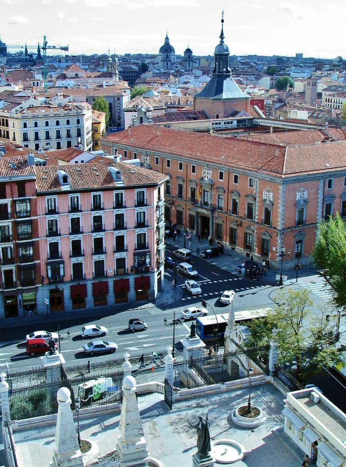 Vistas de Madrid desde la cúpula de la catedral de la Almudena