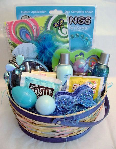 146 best teenager basket images on pinterest gift baskets gift claires teen easter basket large pictures images and photos negle Images