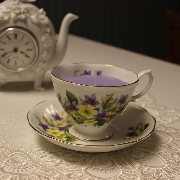 Teacup 0009 Secret Garden Scent   Lavender, Rose & Vanilla essential oils | Beautiful Daisy Designs.