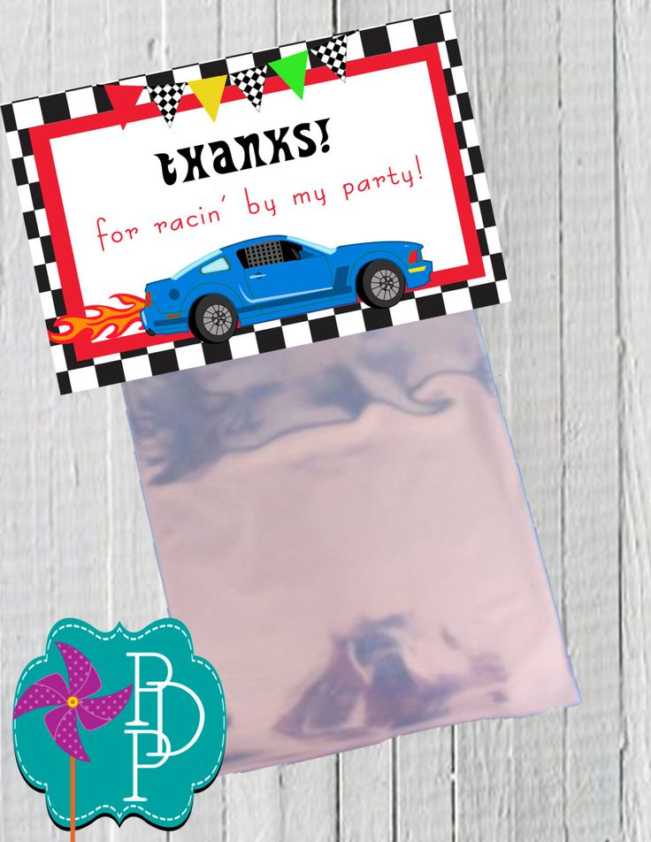 Racing Goodie Bag Printable By PolkaDotPinwheel On Etsy