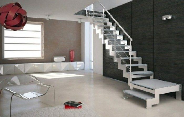 pared negra y escalera blanca que destaca