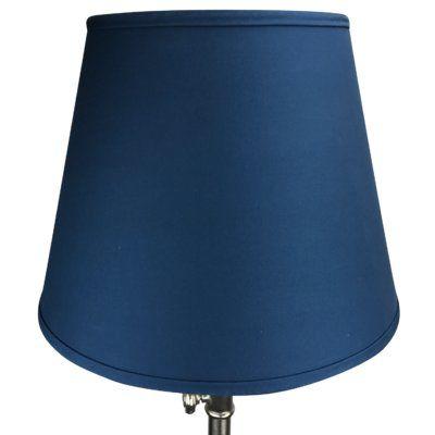 "Fenchel Shades 17"" Linen Empire Lamp Shade Color: Navy Blue"