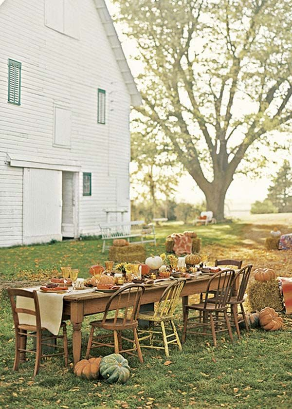 Bring the feast outdoors.