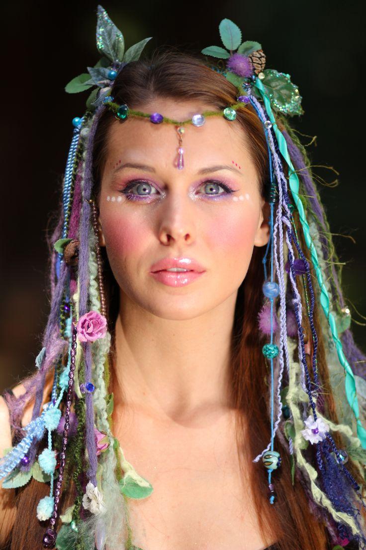 fairy nymph headdress tribal headdress goddess wig burningman www.etsy.com/shop/lotuscircle