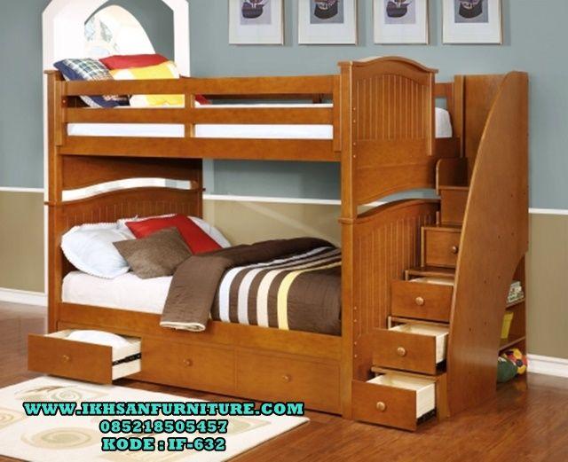 Tempat Tidur Anak Tingkat Minimalis Murah Cat Duco IF-632