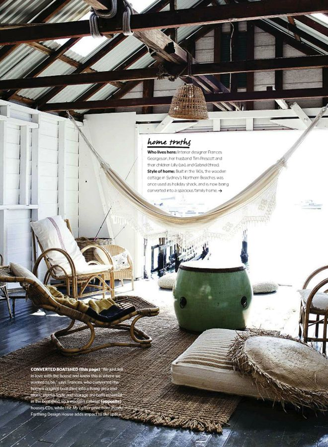 Boathouse conversion - from Nov/Dec issue of @Inside Out magazine Photo Chris Warnes/WarnesandWalton.com | Styling Frances Georgeson.