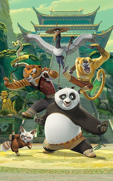 Po, Master Shifu, Tigress, Money, Viper, and Mr. Ping all make an appearance on this delightful Kung Fu Panda wall mural. Your child will be greeted by their favorite movie characters every time they