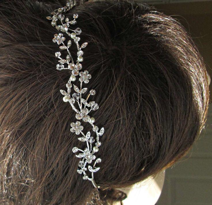 Wedding Headband Hair Vine Pearl Hairband Bridal Tiara Ivory