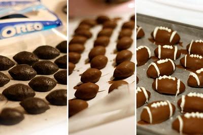Oreo truffle footballs