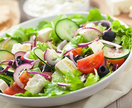 Classic Italian Salad With Vinaigrette Dressing