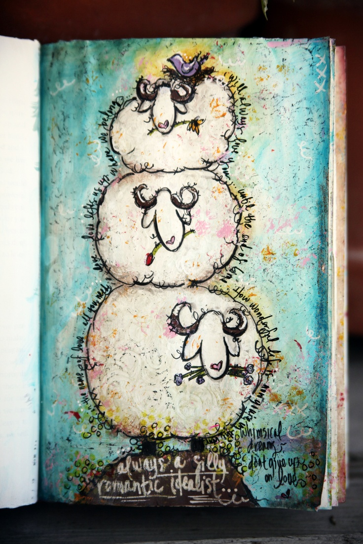 sheep journal page - love it (of course).