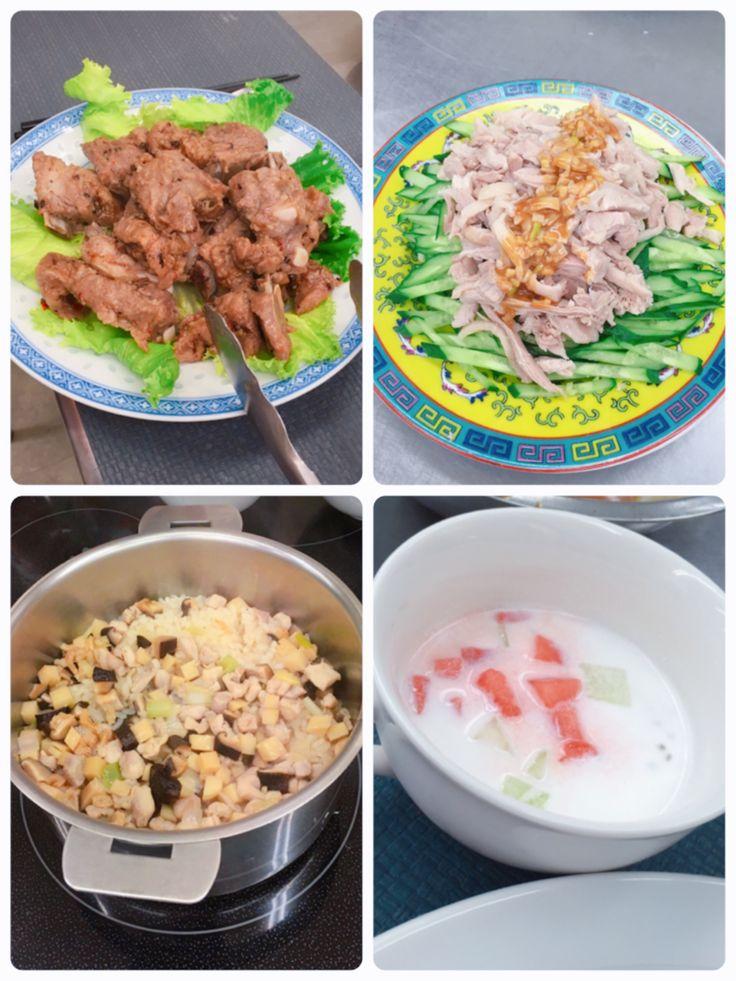 スペアリブの豆鼓蒸し 棒棒鶏 有味飯ユウウェイファン タピオカココナッツ
