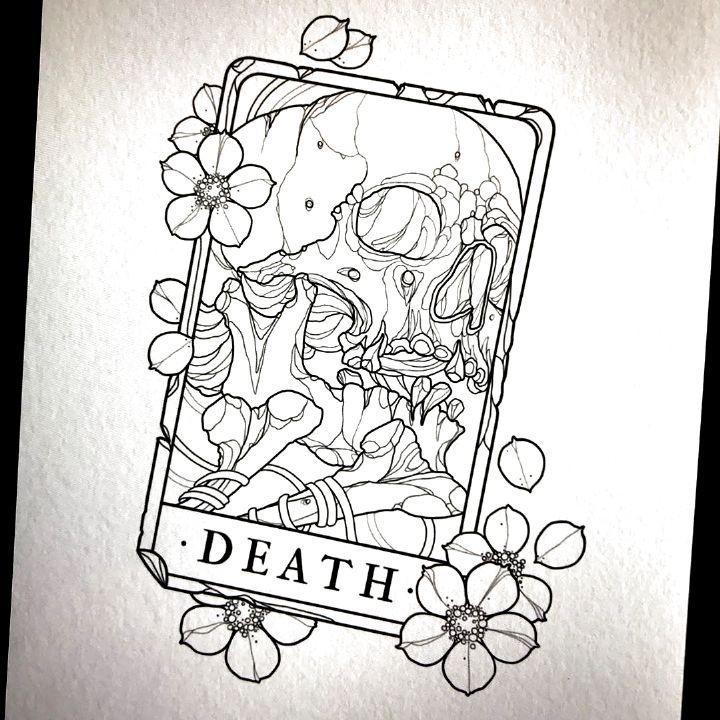 tattoo tarot drawings simple sketches medusa