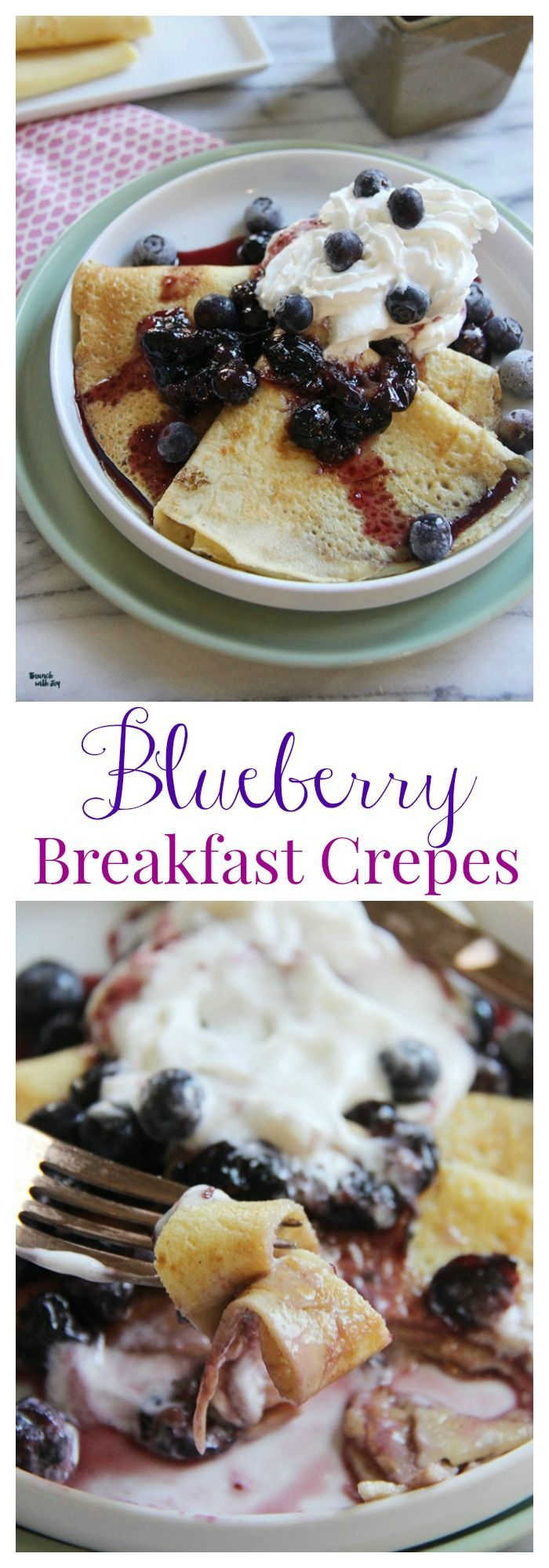 Blueberry Crepes - a no-fail recipe for breakfast, lunxch, or brinner | cupcakesandkalechips.com