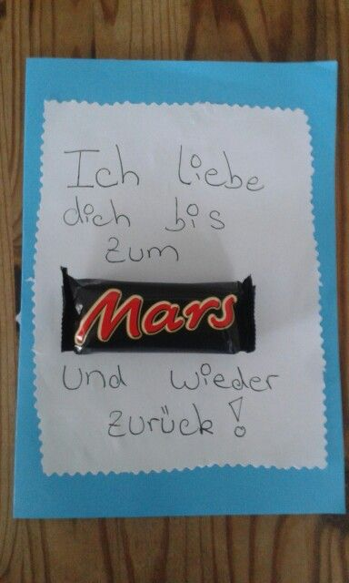 ICH LIEBE DICH BIS ZUM MARS UND WIEDER ZURÜCK ...