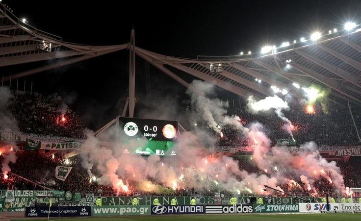Greek Super League soccer match