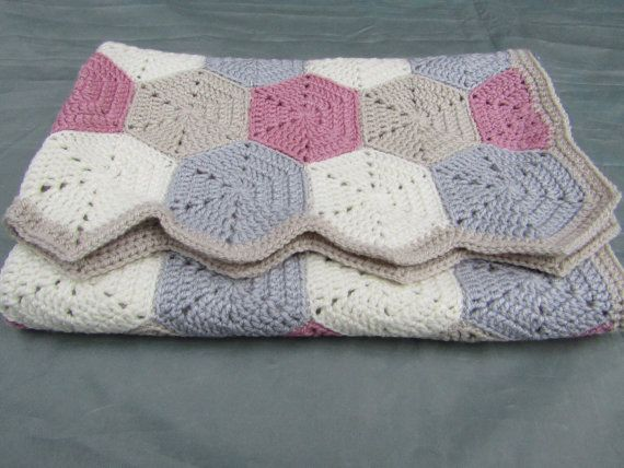 Crochet hexagon blanket baby blanket crochet blanket baby