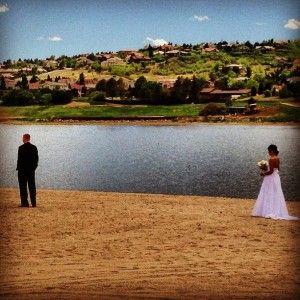 Beautiful and romantic beach photos at the resort. Weddings at Cheyenne Mountain Resort & Club in Colorado Springs, Colorado.