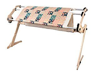 Birch wood, quilt frame, for hand quilting this would be awesome. Light weight, easy to move around a room. https://www.amazon.com/Grace-Start-Right-EZ3-No-Baste-Frame/dp/B002NR5CD8/ref=as_sl_pc_as_ss_li_til?tag=serendripple-20&linkCode=w00&linkId=e9cfdb3cdf11d26a67dc7c1a5a3167db&creativeASIN=B002NR5CD8