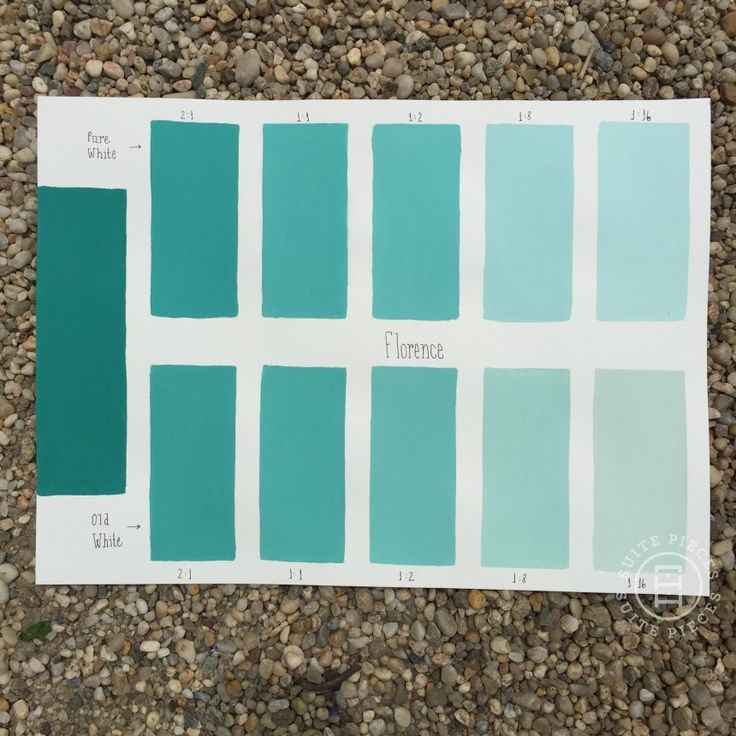 Chalk Paint® Florence Custom Color Chart using Pure White and Old White. Read more on our blog at Suitepieces.com | Suite Pieces
